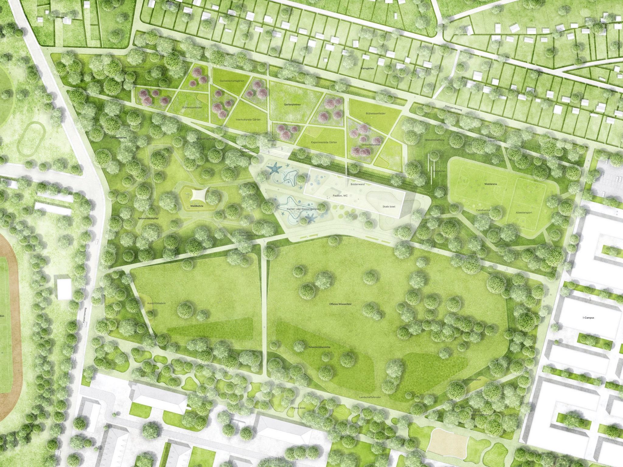 Entwurf Bürgerpark. Foto: Stadt Schweinfurt