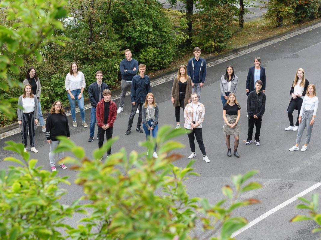 Die Azubis und Studierenden der wüma im Jahr 2020. Foto: Daniel Peter