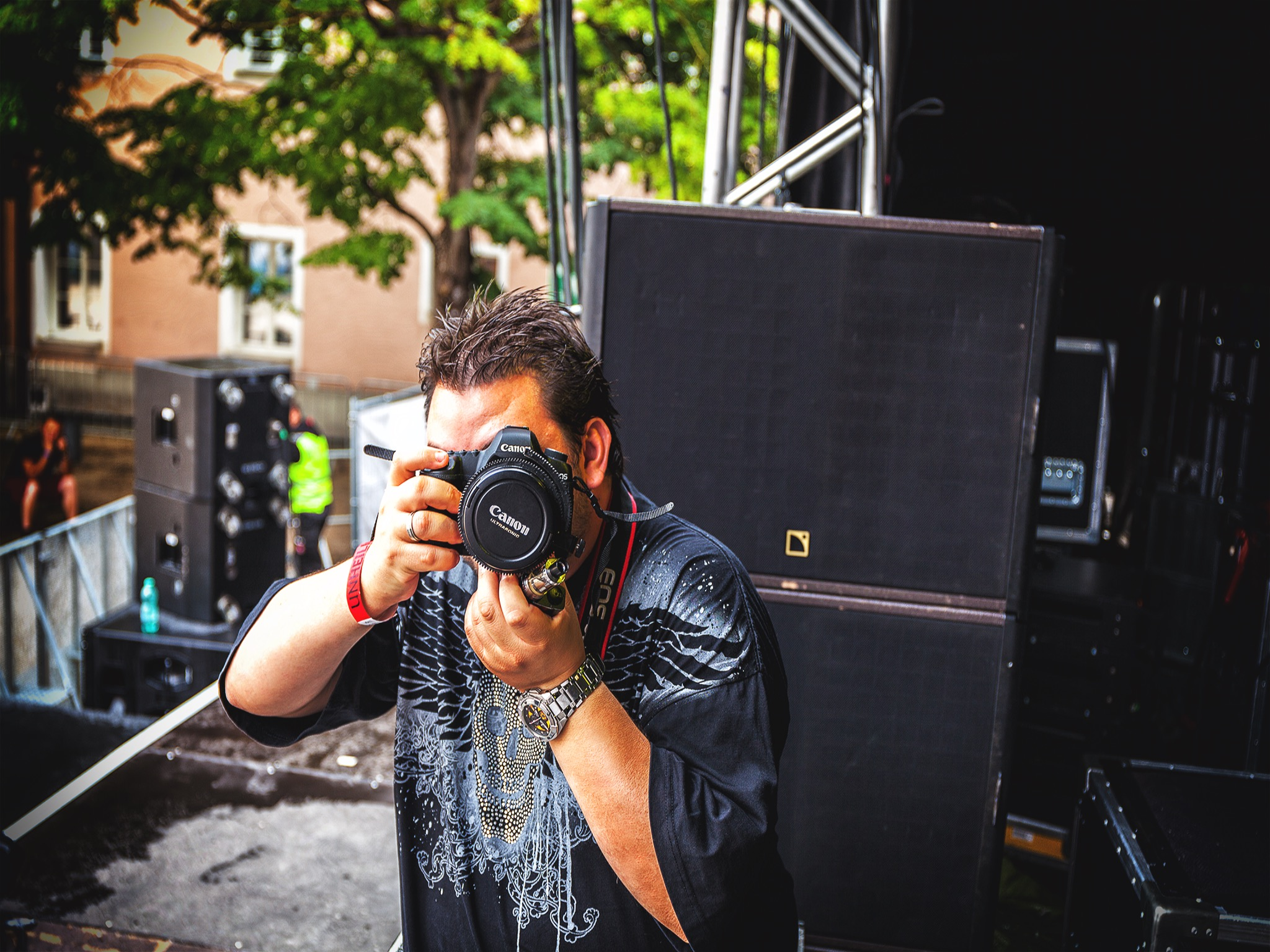 Fotograf Hendrik in Action. Foto: Hendrik Holnäck