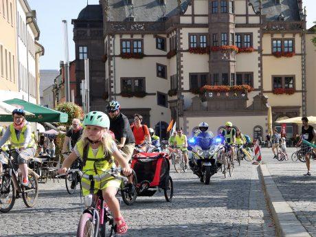 Kidical Mass am 18. September in Schweinfurt. Foto: Abbe Herrmann